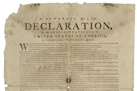declaration of independence on hemp paper