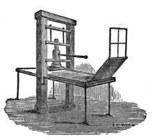 illustration of the gutenberg printing press