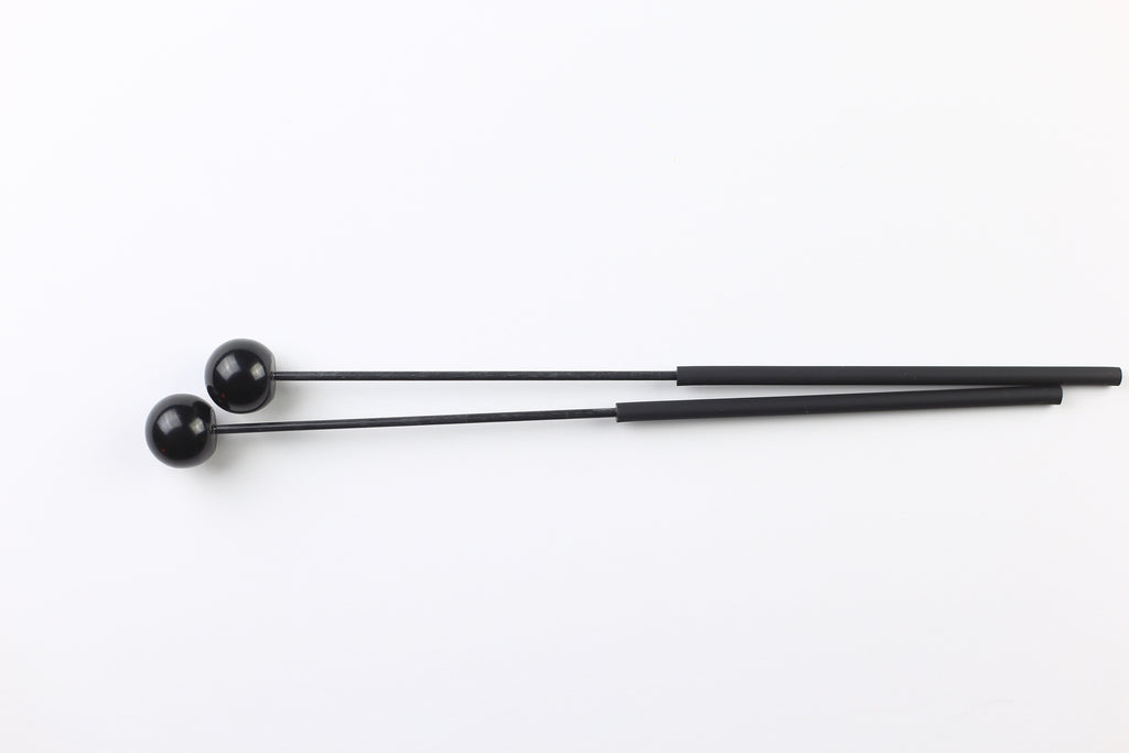 "Dragonfly Percussion 1"" Black Fiberglass Bell Mallet"