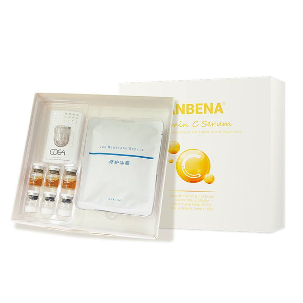 LANBENA Vitamin C Serum Lyophilized Powder Set Moisturizing Whitening Nourishing Remove Melanin Shrink Pores Repairing Skin Care
