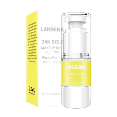 LANBENA 24k Gold Makeup Base Essence Make Up Fine Lines Oil-control Facial Cream Brighten Foundation Primer Cosmetic