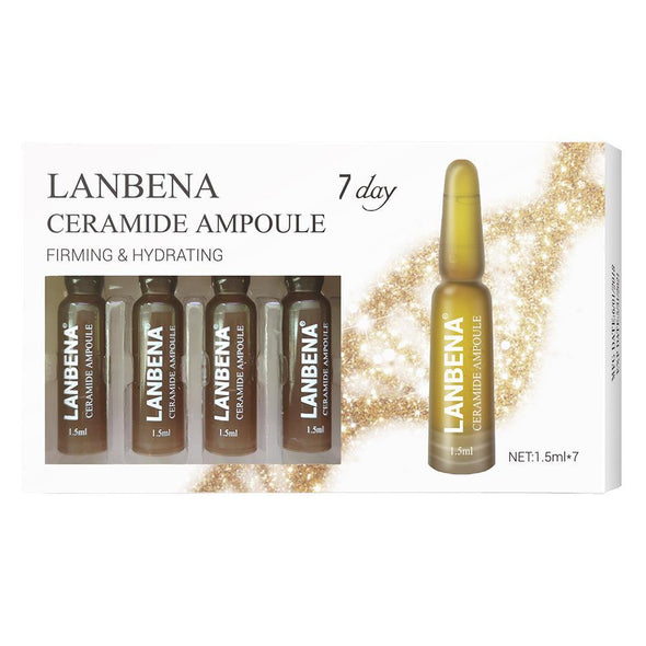 LANBENA Ceramide Ampoule Serum Firming Hydrating Anti-Aging Lifting Nourishing Anti-Wrinkle Shrink Pores Skin Care For 7 Days