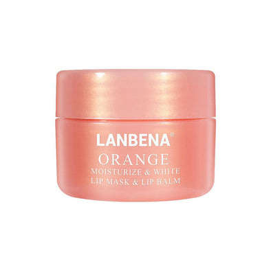 LANBENA Lip Mask Lip Plumper Orange Vitamin C Lips Cream Lip Balm Sleeping Mask Anti Wrinkle Moisturizing Exfoliator Nourishing