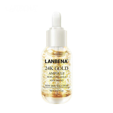LANBENA 24K Gold Ampoule Serum Essence Anti Wrinkle Anti Aging Fine Lines Moisturizing Whitening Firming Face Cream Skin Care