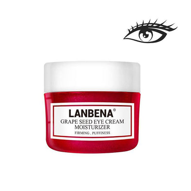 LANBENA Grape Seed Eye Cream Fading Fine Lines Dark Circle Removing Eye Puffiness Nourishing Moisturizing Firming Anti-Aging