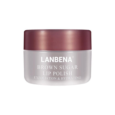 LANBENA Lip Scrub Lip Mask Lip Balm Brown Sugar Lip Plumper Sleeping Mask Moisturizing Exfoliating Repair Lip Lines Protect Lips