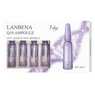 LANBENA Q10 Ampoule Serum Anti-Aging Lifting Firming Moisturizing Nourishing Anti-Wrinkle Treatment Fine Lines Beauty For 7 Days