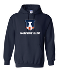 Gildan - Navy Blend Hooded Crewneck Sweatshirt - 18500