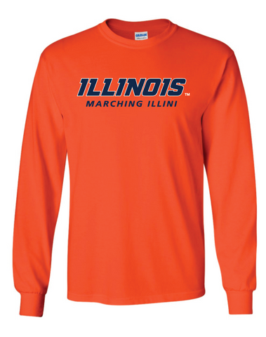 Gildan -  Orange Ultra Cotton® Long Sleeve T-Shirt - 2400