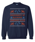 Navy Ugly Holiday Sweater Hanes - F260