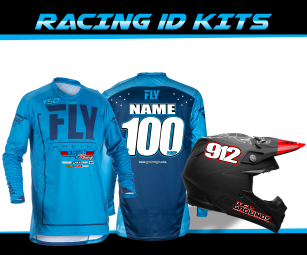 Racing Jersey and Helmet ID kits