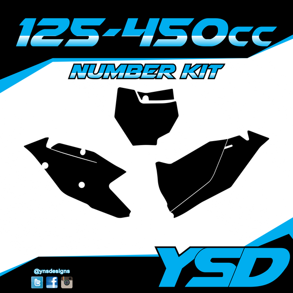 125-450 cc Number Kit - Y&S Designs, LLC
