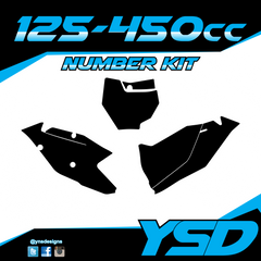 125-450 cc Number Kit