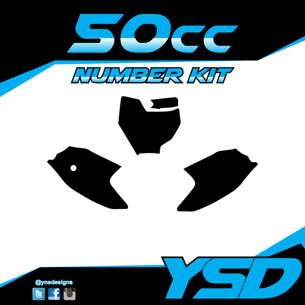 50 cc Number Kit - Y&S Designs, LLC