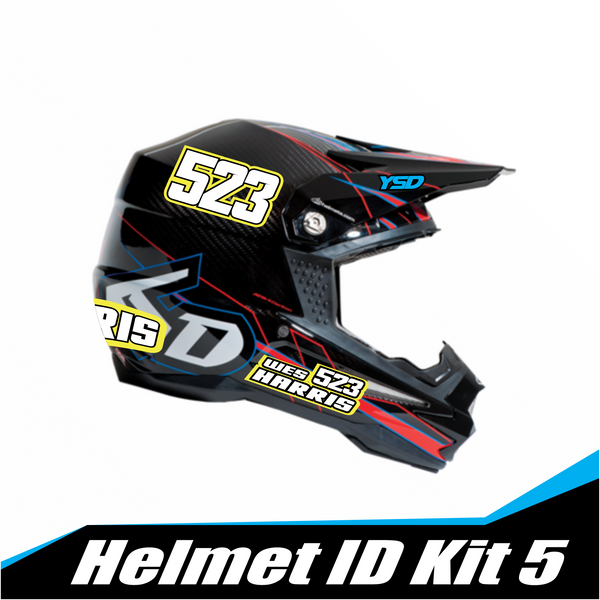 Helmet ID kit 5 - Y&S Designs, LLC