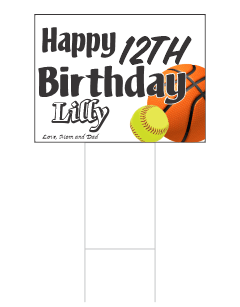 Happy Birthday Yard Cad | Yard Sign