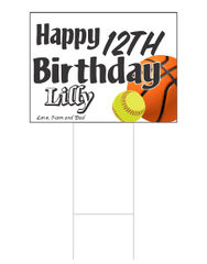 Happy Birthday Yard Cad | Yard Sign - Y&S Designs, LLC