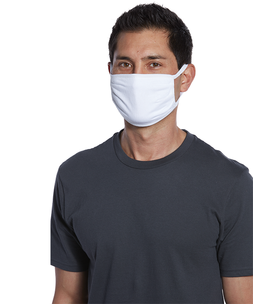 Solid color Three-ply 100% cotton jersey Face Mask - Y&S Designs, LLC