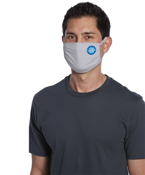 Branded logo face covering -  Three-ply 100% cotton jersey Face Mask - Y&S Designs, LLC