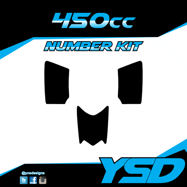 450 cc Number Kit - Y&S Designs, LLC