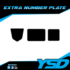 Extra Number Plate - Y&S Designs, LLC