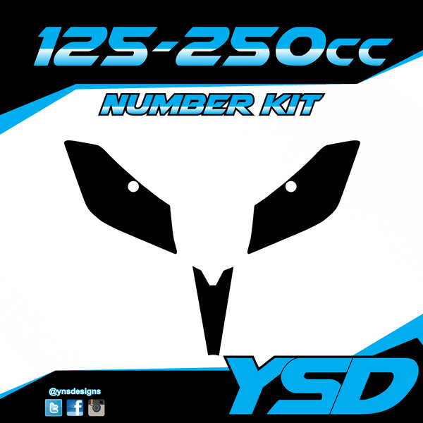 125-250 cc Number Kit - Y&S Designs, LLC