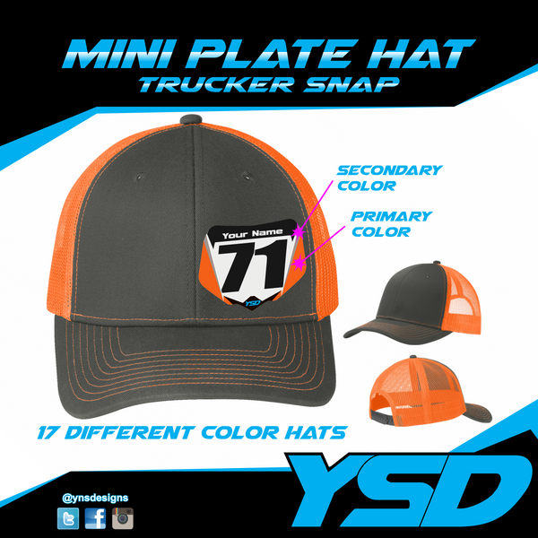 Mini plate Trucker snapback hat