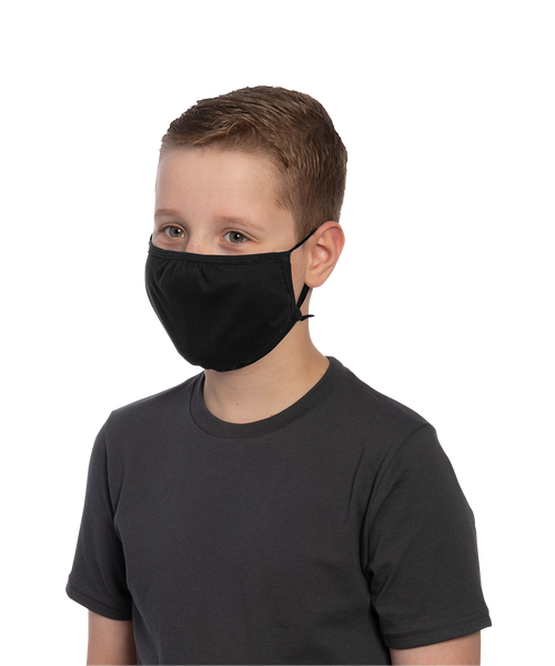 Solid color Youth Three-ply 100% combed ring spun cotton Face Mask - Y&S Designs, LLC