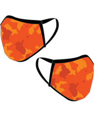 ORANGE CAMO FACE MASK - Y&S Designs, LLC