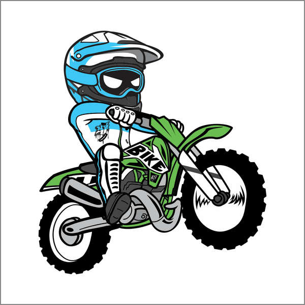 Cartoon Dirt Bike Sticker
