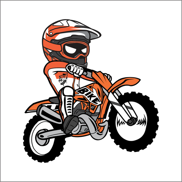 Cartoon Dirt Bike Sticker Y Amp S Designs Llc
