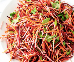 Beetroot, Carrot and Apple Salad with Mint