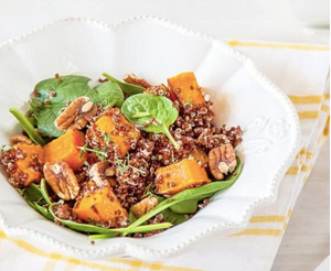Roast Pumpkin, Spinach and Quinoa Salad