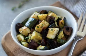 Roasted Zucchini, Mushrooms and Rosemary