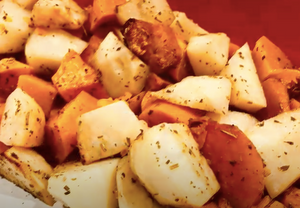 Crunchy Roasted Pumpkin, Potatoes and Sweet Potato