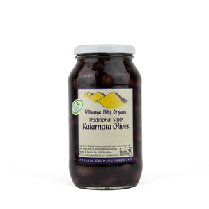 Olives - Willunga Hills Traditional Kalamata Olives 500gm