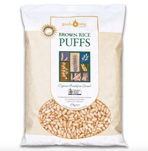 organic brown rice puffs