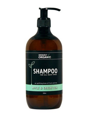 uniquely-organic-apple-and-green-tea-shampoo
