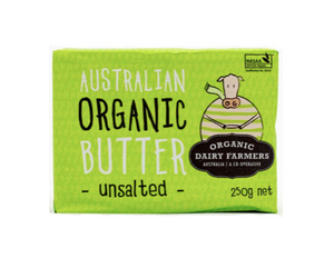 Butter - Organic Unsalted Butter 250gm