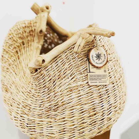 israel basketry woven basket palm branches
