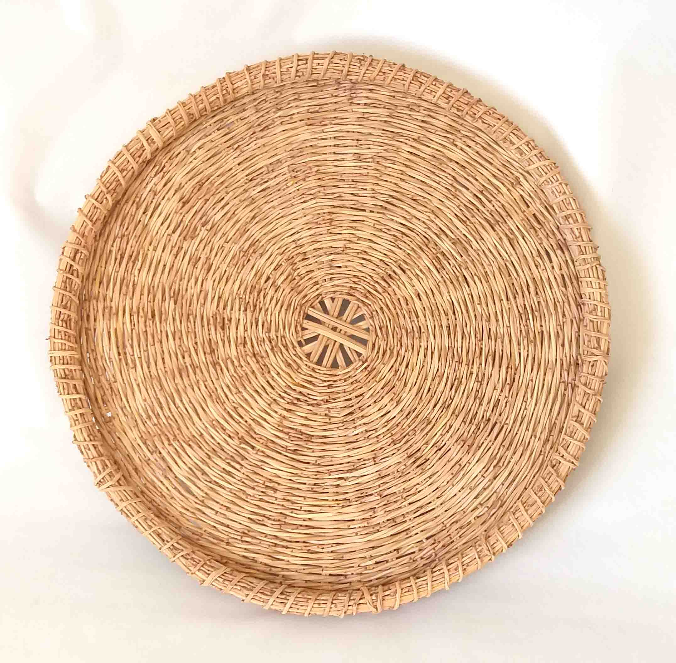 Tray Plate Wall Decor Made Of Palm Branches Israel Basketry