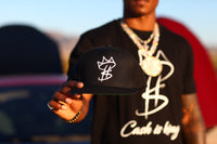 Cash is King Logo Black SnapBack