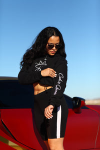 Ca$h I$ Queen Logo Cropped Hoodies