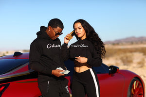 Ca$h I$ Queen Cropped Hoodies