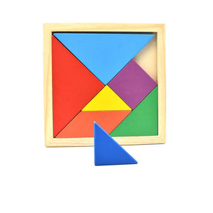 Square Tangram Puzzle Escape Room Prop