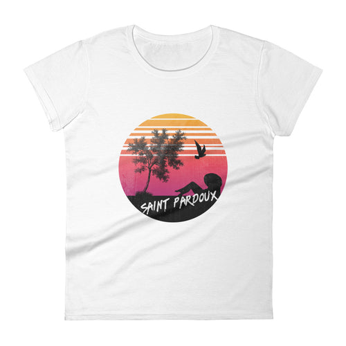 SUNSET SAINT PARDOUX - Tee shirt femme - col rond illustration imprimé