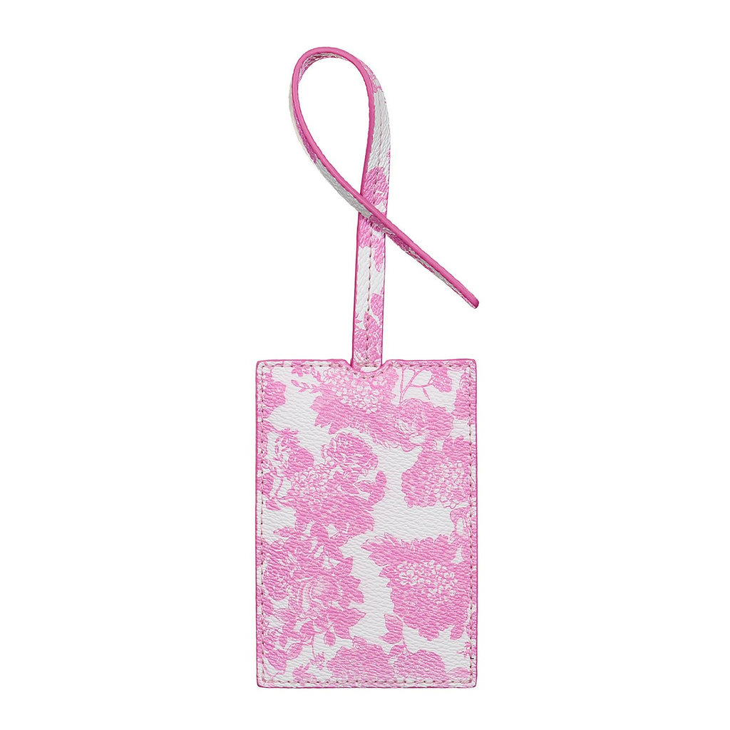 LoveShackFancy x Stoney Clover Lane Pink Gem Textured Luggage Tag