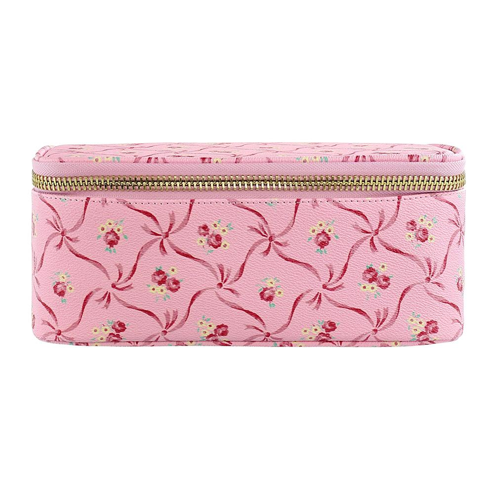 LoveShackFancy x Stoney Clover Lane Pink Bonnet Open Top Mirror Pouch