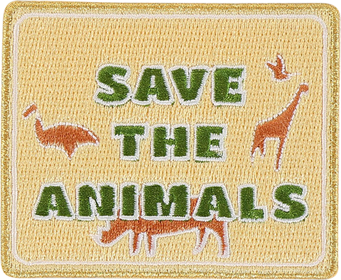 Save The Wild Animals Sticker Patch
