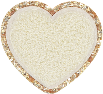 Fall Buttercream Glitter Heart Patch
